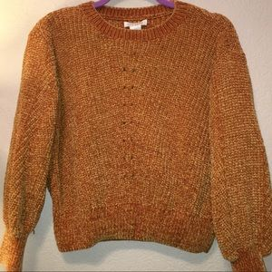 Sweaters - Mustard yellow color knit sweater